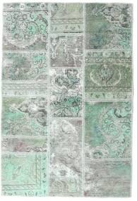 Patchwork - Persien/Iran Matto 106X158 Moderni Käsinsolmittu Vaaleanharmaa/Pastellinvihreä (Villa, Persia/Iran)