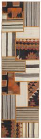 Tekkeh Kelim Matto 71X252 Moderni Käsinkudottu Käytävämatto Vaaleanharmaa/Ruskea (Villa, Persia/Iran)