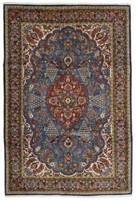 Ghom Kork/Silkki Matto 215X322 Itämainen Käsinsolmittu Ruskea/Tummanharmaa (Villa/Silkki, Persia/Iran)