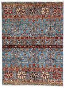 Sharbargan Matto 106X143 Moderni Käsinsolmittu Tummanruskea/Sininen (Villa, Afganistan)