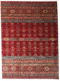 Shabargan Matto 213X293 Moderni Käsinsolmittu Tummanpunainen (Villa, Afganistan)