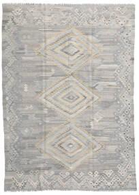 Kelim Ariana Matto 210X284 Moderni Käsinkudottu Vaaleanharmaa (Villa, Afganistan)