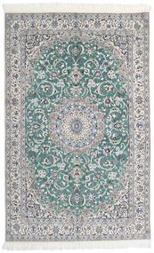 Nain 9La Matto 136X200 Itämainen Käsinsolmittu Vaaleanharmaa/Valkoinen/Creme (Villa/Silkki, Persia/Iran)
