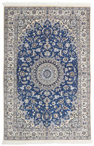 Nain 9La Matto 130X196 Itämainen Käsinsolmittu Vaaleanharmaa/Beige (Villa/Silkki, Persia/Iran)
