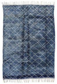 Berber Moroccan - Mid Atlas Matto 217X310 Moderni Käsinsolmittu Sininen/Tummansininen (Villa, Marokko)