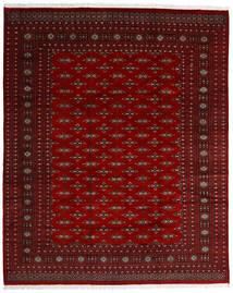 Pakistan Bokhara 2Ply Matto 242X299 Itämainen Käsinsolmittu Tummanpunainen/Tummanruskea/Punainen (Villa, Pakistan)