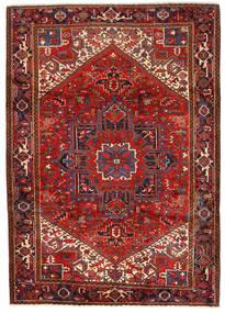 Heriz Matto 243X330 Itämainen Käsinsolmittu Tummanpunainen/Ruoste (Villa, Persia/Iran)