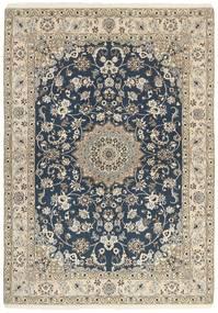 Nain 9La Matto 148X210 Itämainen Käsinsolmittu Vaaleanharmaa/Tummanharmaa/Beige (Villa/Silkki, Persia/Iran)