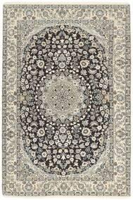 Nain 9La Matto 134X205 Itämainen Käsinsolmittu Vaaleanharmaa/Tummanharmaa/Beige (Villa/Silkki, Persia/Iran)
