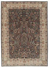 Kerman Lavar Matto 250X348 Itämainen Käsinsolmittu Vaaleanharmaa/Musta Isot (Villa/Silkki, Persia/Iran)