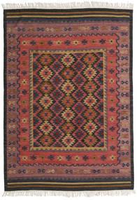 Kelim Marmaris Matto 160X230 Moderni Käsinkudottu Tummanpunainen/Musta (Villa, Intia)