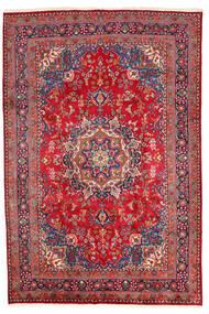 Mashad Matto 198X294 Itämainen Käsinsolmittu Tummanpunainen/Punainen (Villa, Persia/Iran)