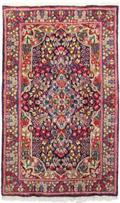 Kerman Matto 91X150 Itämainen Käsinsolmittu Tummanpunainen/Tummanvioletti (Villa, Persia/Iran)