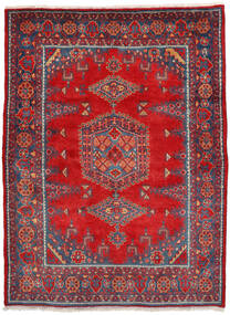 Wiss Matto 160X222 Itämainen Käsinsolmittu Ruoste/Tummanpunainen (Villa, Persia/Iran)