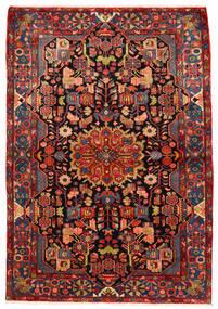Nahavand Old Matto 160X230 Itämainen Käsinsolmittu Tummanpunainen/Ruoste (Villa, Persia/Iran)