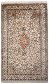 Kashmir 100% Silkki Matto 94X153 Itämainen Käsinsolmittu Vaaleanharmaa/Tummanharmaa (Silkki, Intia)