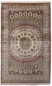 Kashmir 100% Silkki Matto 97X156 Itämainen Käsinsolmittu Vaaleanharmaa/Tummanharmaa (Silkki, Intia)