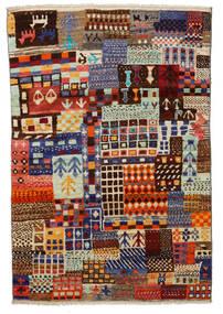 Moroccan Berber - Afghanistan Matto 115X171 Moderni Käsinsolmittu Tummanpunainen/Vaaleanharmaa (Villa, Afganistan)