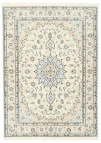 Nain 9La Sherkat Farsh Matto 150X207 Itämainen Käsinsolmittu Beige/Vaaleanharmaa (Villa/Silkki, Persia/Iran)