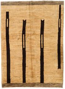 Moroccan Berber - Afghanistan Matto 143X205 Moderni Käsinsolmittu Keltainen/Vaaleanruskea (Villa, Afganistan)