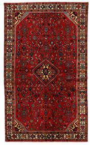 Hosseinabad Matto 125X208 Itämainen Käsinsolmittu Tummanpunainen/Ruoste (Villa, Persia/Iran)