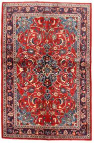 Sarough Matto 134X203 Itämainen Käsinsolmittu Musta/Ruoste (Villa, Persia/Iran)