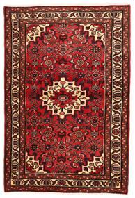 Hosseinabad Matto 103X155 Itämainen Käsinsolmittu Tummanpunainen/Beige (Villa, Persia/Iran)