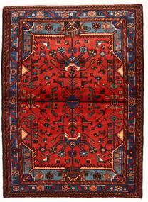 Nahavand Matto 104X143 Itämainen Käsinsolmittu Tummanpunainen/Ruoste (Villa, Persia/Iran)