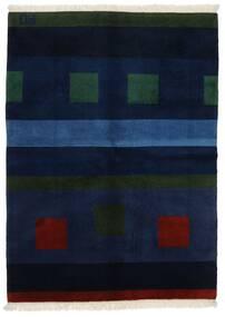 Gabbeh Indo Matto 144X197 Moderni Käsinsolmittu Tummansininen (Villa, Intia)