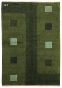 Gabbeh Indo Matto 139X199 Moderni Käsinsolmittu Tummanvihreä (Villa, Intia)