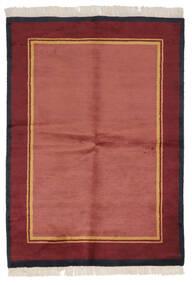 Gabbeh Indo Matto 137X196 Moderni Käsinsolmittu Punainen/Tummanpunainen (Villa, Intia)
