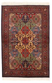 Kazak Matto 135X201 Itämainen Käsinsolmittu Tummanpunainen/Tummanharmaa (Villa, Pakistan)