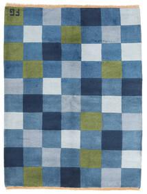Gabbeh Indo Matto 146X192 Moderni Käsinsolmittu Sininen/Vaaleansininen (Villa, Intia)