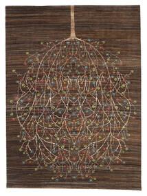 Gabbeh Loribaft Matto 170X227 Moderni Käsinsolmittu Tummanruskea/Ruskea (Villa, Intia)