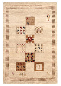 Gabbeh Loribaft Matto 122X184 Moderni Käsinsolmittu Beige/Keltainen (Villa, Intia)