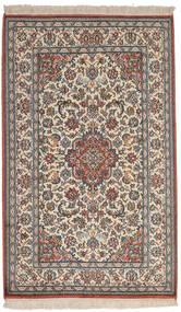 Kashmir 100% Silkki Matto 82X134 Itämainen Käsinsolmittu Vaaleanharmaa/Tummanharmaa (Silkki, Intia)