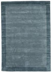 Handloom Frame - Petrol Sininen Matto 160X230 Moderni Sininen (Villa, Intia)