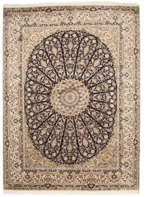 Kashmir 100% Silkki Matto 159X218 Itämainen Käsinsolmittu Vaaleanharmaa/Ruskea (Silkki, Intia)