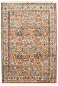 Kashmir 100% Silkki Matto 172X248 Itämainen Käsinsolmittu Ruskea/Tummanruskea (Silkki, Intia)