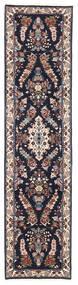 Sarough Matto 72X293 Itämainen Käsinsolmittu Käytävämatto Tummansininen/Tummanruskea (Villa, Persia/Iran)
