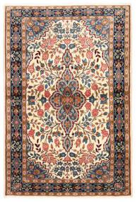 Sarough Matto 100X149 Itämainen Käsinsolmittu Tummanruskea/Tummanbeige (Villa, Persia/Iran)