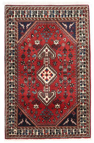 Abadeh Matto 82X129 Itämainen Käsinsolmittu Tummanruskea/Tummanpunainen (Villa, Persia/Iran)