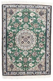 Nain 9La Matto 68X100 Itämainen Käsinsolmittu Tummanharmaa/Valkoinen/Creme/Vaaleanharmaa (Villa/Silkki, Persia/Iran)