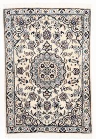 Nain 9La Matto 68X102 Itämainen Käsinsolmittu Beige/Vaaleanharmaa (Villa/Silkki, Persia/Iran)