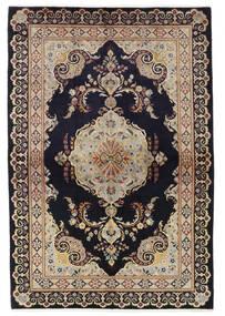 Keshan Matto 137X204 Itämainen Käsinsolmittu Musta/Ruskea (Villa, Persia/Iran)