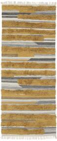 Sunny - Keltainen Matto 100X250 Moderni Käsinkudottu Käytävämatto Ruskea/Tummanruskea (Villa, Intia)