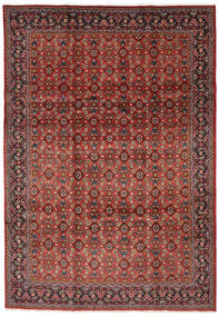 Mahal Matto 219X313 Itämainen Käsinsolmittu Tummanpunainen/Tummanruskea (Villa, Persia/Iran)