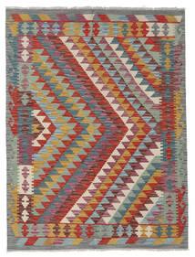 Kelim Afghan Old Style Matto 149X199 Itämainen Käsinkudottu Tummanpunainen/Tummanharmaa (Villa, Afganistan)