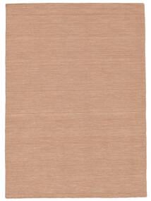 Kelim Loom - Dusty Rose Matto 140X200 Moderni Käsinkudottu Tummanpunainen/Tummanruskea/Valkoinen/Creme (Villa, Intia)