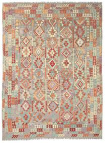 Kelim Afghan Old Style Matto 292X393 Itämainen Käsinkudottu Vaaleanharmaa/Tummanbeige Isot (Villa, Afganistan)